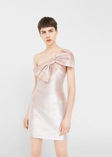 vestidos de fiesta rosas con lazo