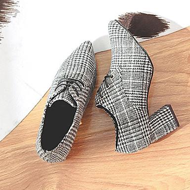 Lo mejor en zapatos de mujer - zapatos tweed abotinados