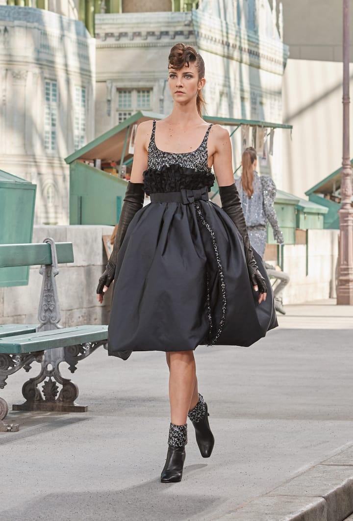 Colección Chanel Otoño Invierno 2018-2019 -vestidos negros de cóctel