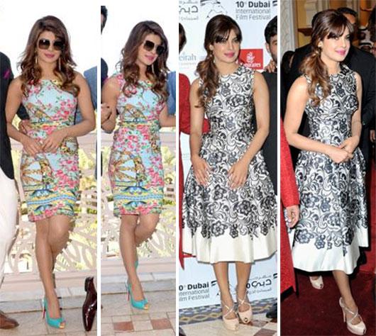 Inspírate con los looks de vestidos glamurosos de Priyanka Chopra