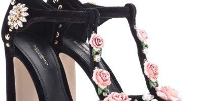 Salones y sandalias de Dolce & Gabbana - sandalias negras con flores