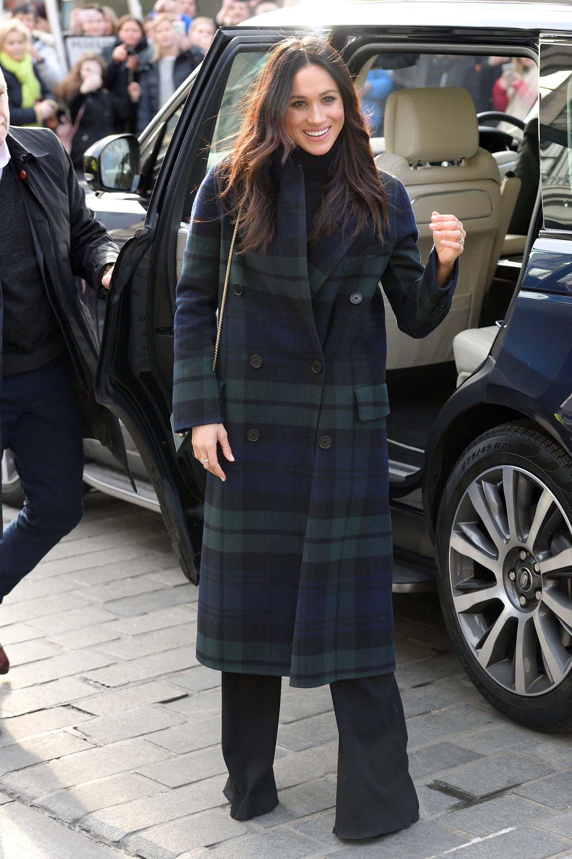 Looks Meghan Markle 2018 que todas queremos imitar - abrigo cuadros